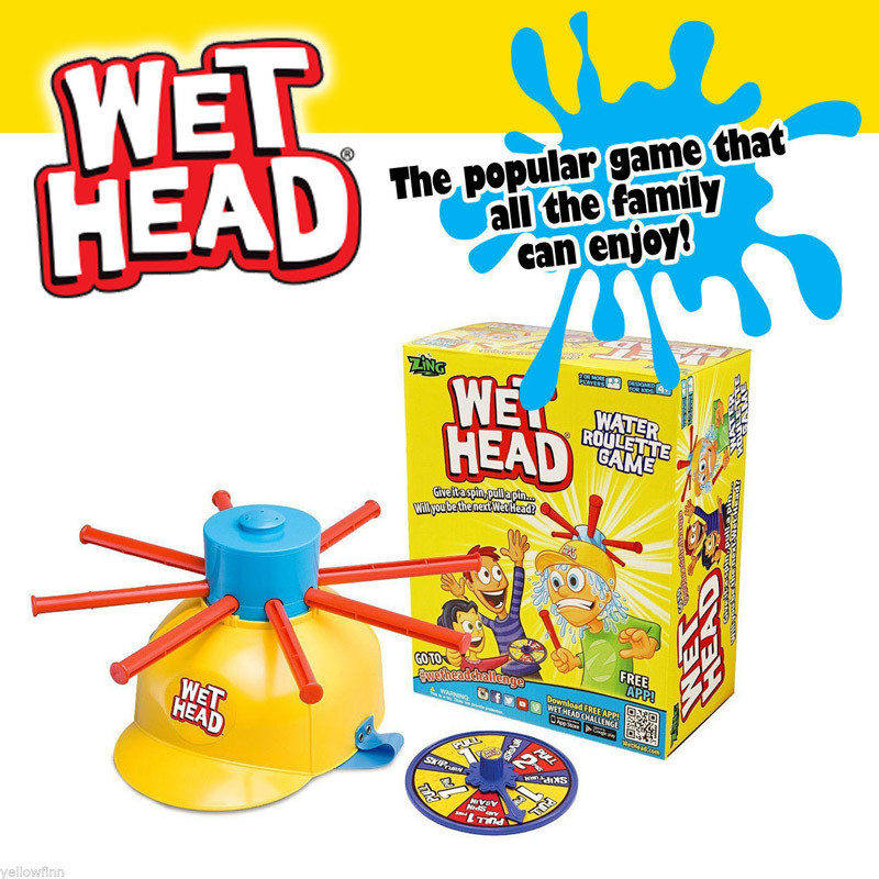 Wet Head Water Roulette Game 2017 Fun Kids Challenge Hat Outdoor Toy
