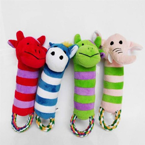 Pet Toys Dog Puppy Toy Plush Sound Squeaker Squeaky Animal Shape Chew Toy