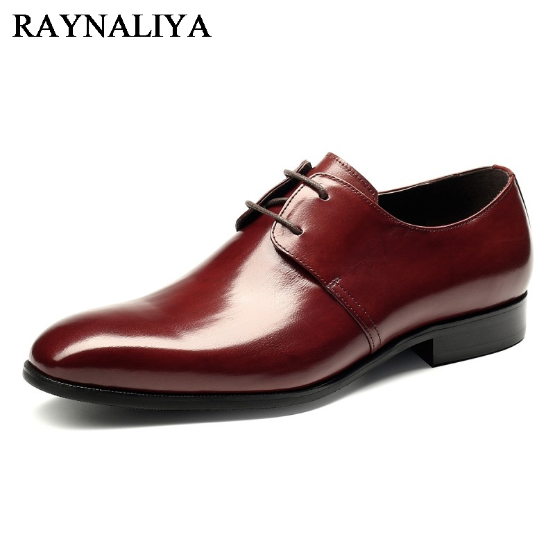 New Luxury Men Formal Dress Shoes Pointed Toe Classic Wedding Oxford Genuine Leather Men Flats Shoes Plus Size 37-44 YJ-A0014