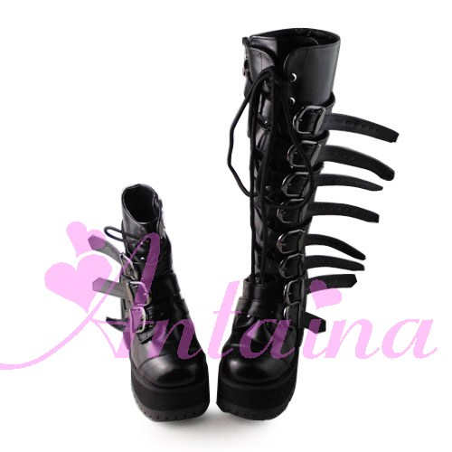 Princess sweet lolita gothic lolita boots custom platform zipper buckle doll 1437 cosplay shoes купить в Москве 2019