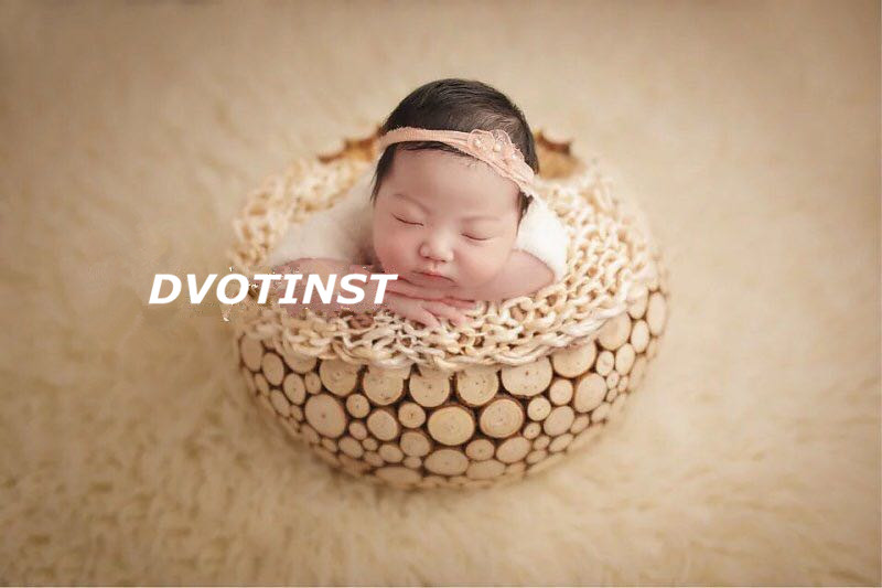 Dvotinst Newborn Baby Photography Props Round Wooden Box Tub Fotografia Accessory Infant Toddler Studio Shooting Photo Props newborn photography props child headband baby hair accessory baby hair accessory female child hair bands infant accessories