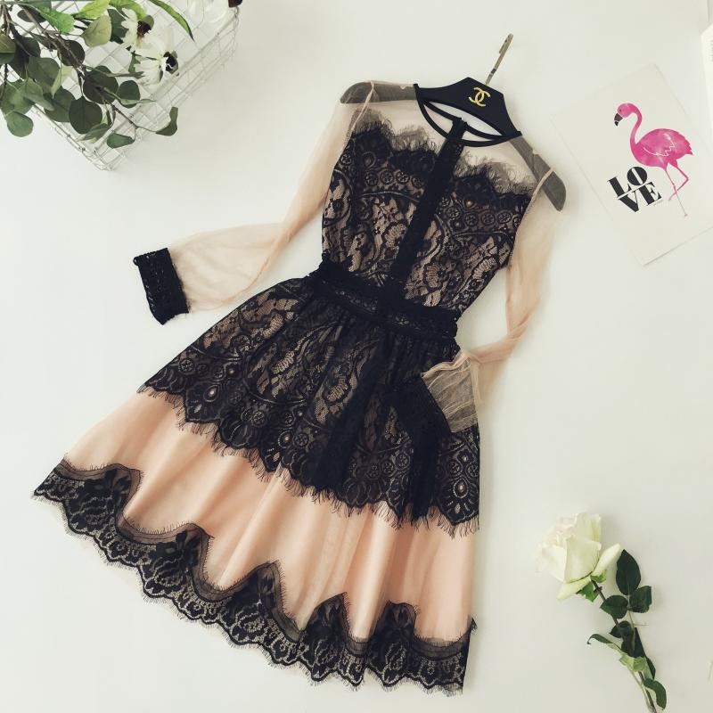 Women's <font><b>Dresses</b></font> 2019 Spring Summer Fashion Dressup Black <font><b>Lace</b></font> Short <font><b>Mini</b></font> <font><b>Party</b></font> Birthday Girl Clothes Celebrity <font><b>Sexy</b></font> <font><b>Female</b></font> image