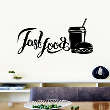 Hot Sale fast food Vinyl Wallpaper Roll Furniture Decorative Removable Wall Sticker Decoration Murals