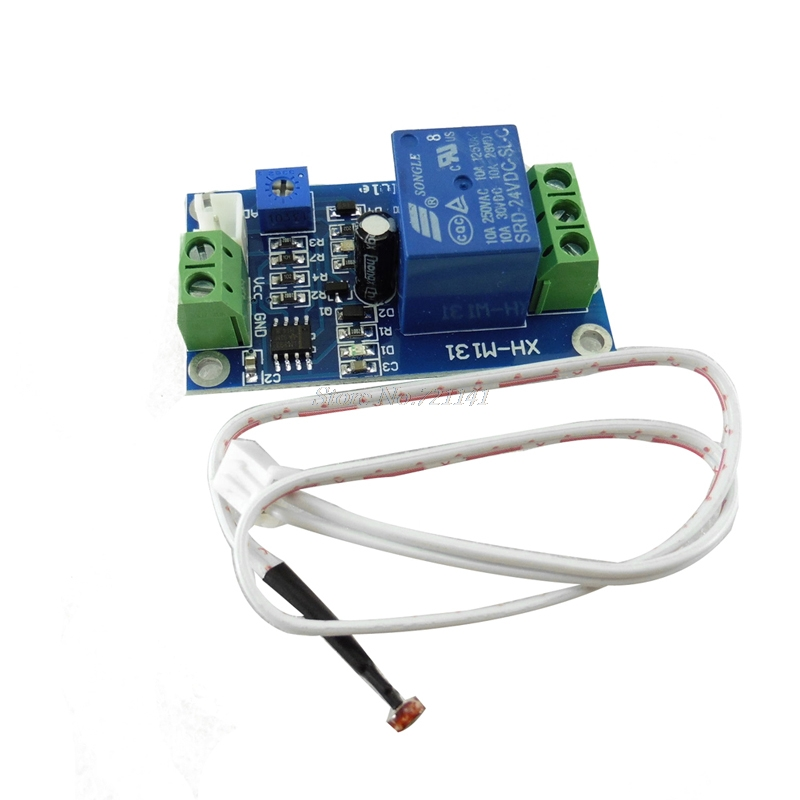 DC 24V Photoresistor Module Relay Light Detection Sensor Light Control Switch