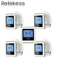 5 шт. RETEKESS часы приемник Беспроводная система вызова официанта пейджер ресторанное оборудование питание обслуживание клиентов F3288B