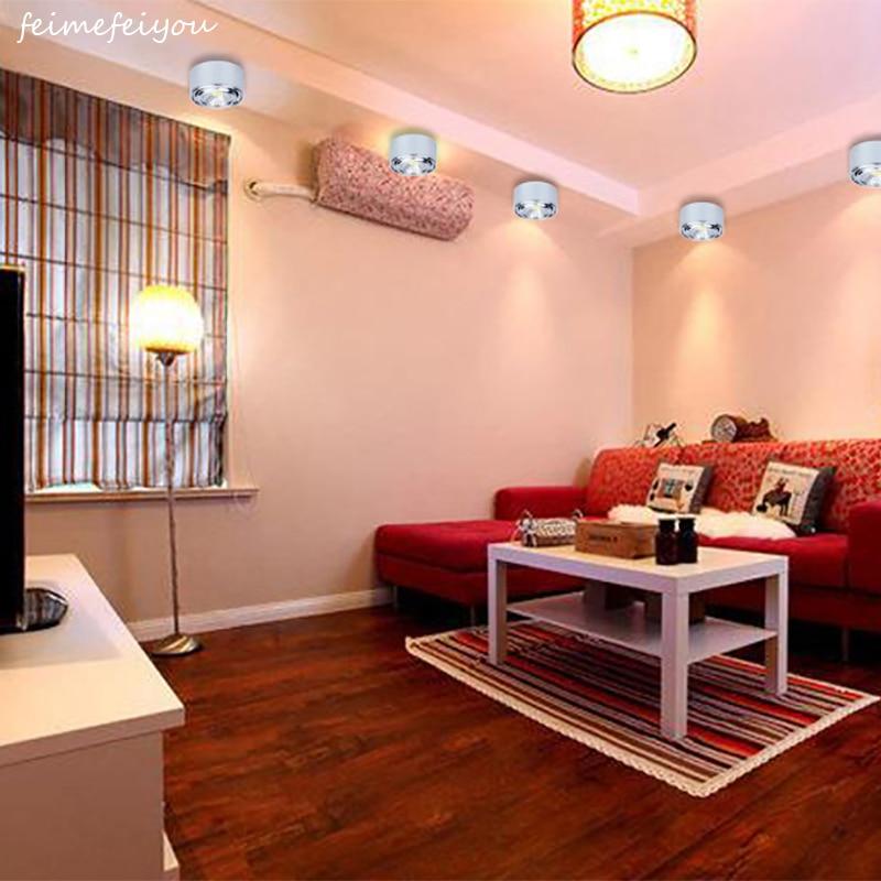ceiling living background wall led spotlight angle downlight ultra astigmatism thin hole cob adjustable zoom lights lighting