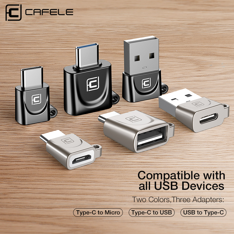 CAFELE USB OTG Adapter Usb To Type C Cable Type-c To Usb Type-c To Micro Charging Data Sync Cable For Huawei Xiaomi Samsung