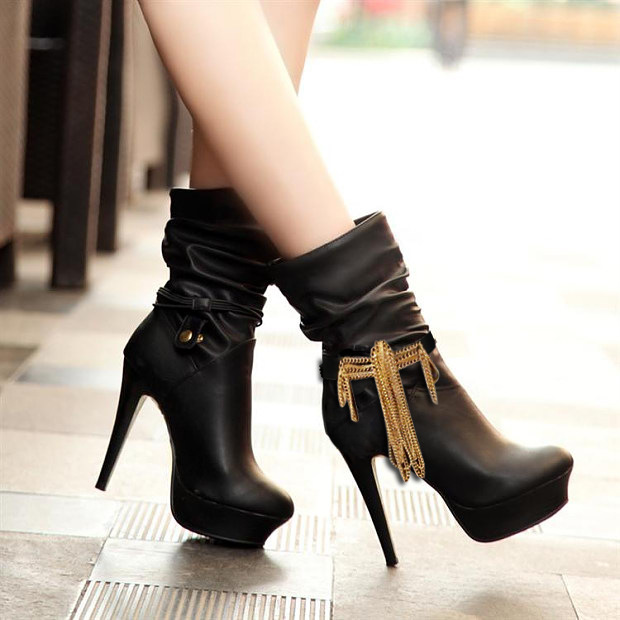 SUPIN Fahion Punk Alloy Tassels Women High Heeled Shoe Boots Accessories Bijoux Jewelry Foot Multi Chain Elasticity Anklet