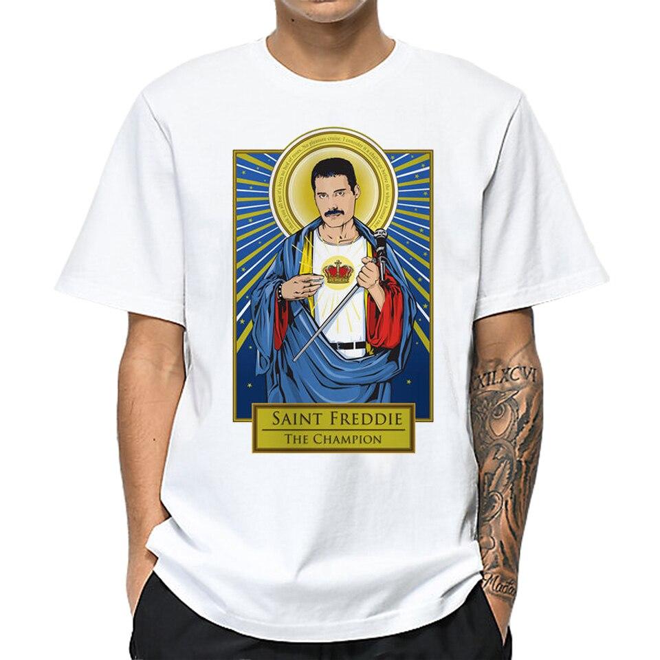 LettBao Freddie Mercury Funny Mens T Shirts Summer Short Sleeve Men's T-shirt Harajuku O-Neck White Tshirt Fashion Summer Top