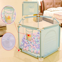 Children's Playpen For Baby Oxford Cloth Fence With Basket Kids Dry Ball Pool Pit As Newborn Gift Game Toy Tent Safety Guardrail