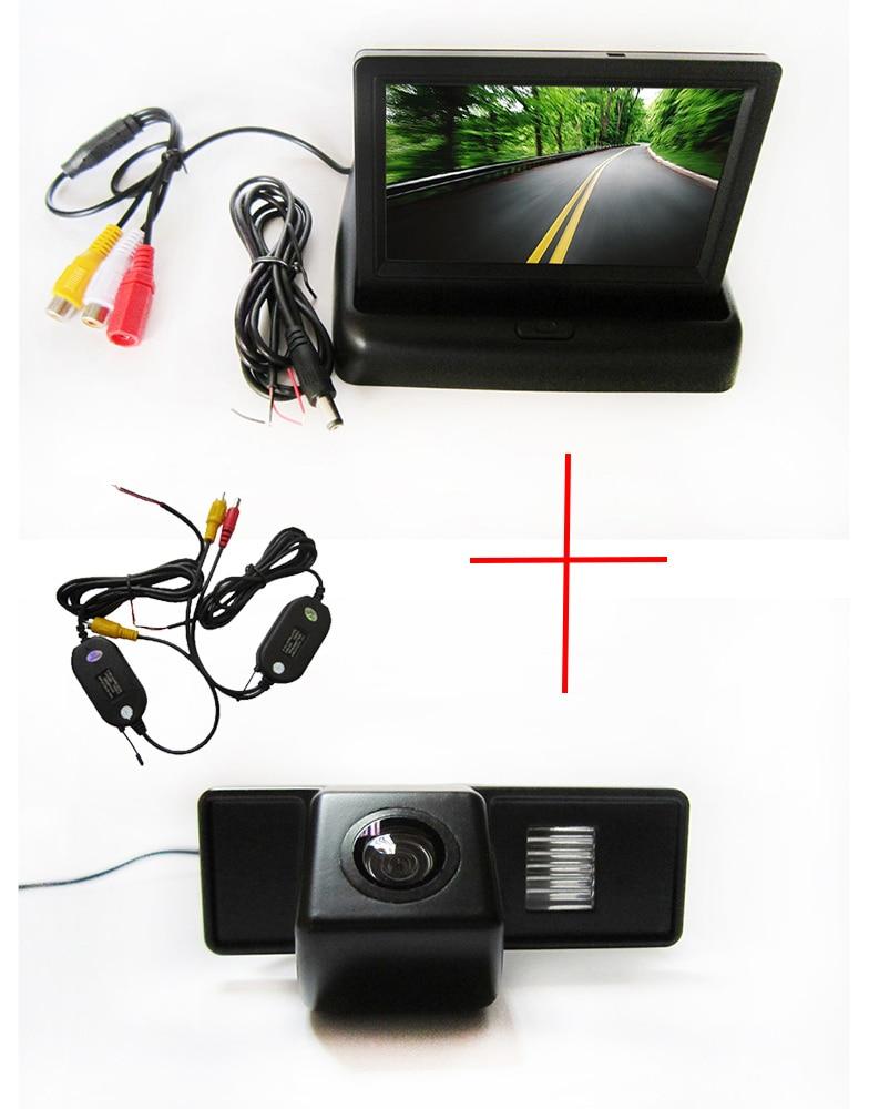 Caméra sans fil de vue arrière de CCD de voiture de WIFI pour Benz Vito Viano avec le moniteur pliable de TFT d'affichage à cristaux liquides de 4.3 pouces