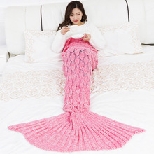 Ladies mermaid Blanket Mermaid Tail Wool For Sofa Cover New Style Trend Adult Relax Sleeping Nap Colorful Blankets