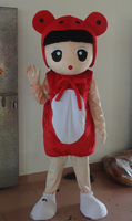 girl Mascot Costume Fancy Dress costume girl party mascot costume