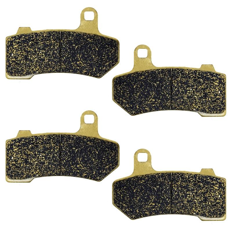 AHL Semi-metallic Front /& Rear Brake Pads Set for Touring FLHTK Electra Glide Ultra LTD 2010-2012