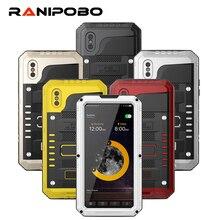 Étuis de téléphone antichoc imperméables hybrides à 3 couches pour iPhone X 8 7 6 6S Plus 5 5S SE PC + TPU avec coque de téléphone en verre