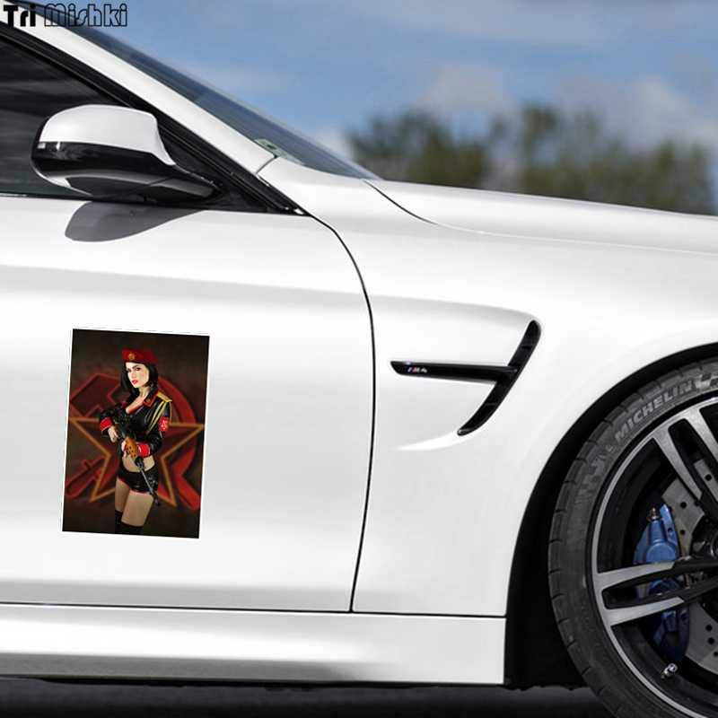 Tri Mishki WCS176 13x19 ซม.เพศหญิง uniform และค้อนรถสติกเกอร์สติ๊กเกอร์รถสีสันรถยนต์ decals