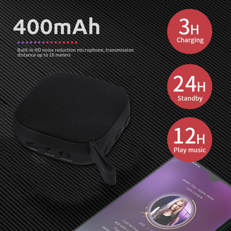 Image 4 - Portable Bluetooth Speakers Mini Wireless Loudspeaker 10W Music Surround Outdoor Support FM TFCard Speaker for huawei samsung-in Portable Speakers from Consumer Electronics