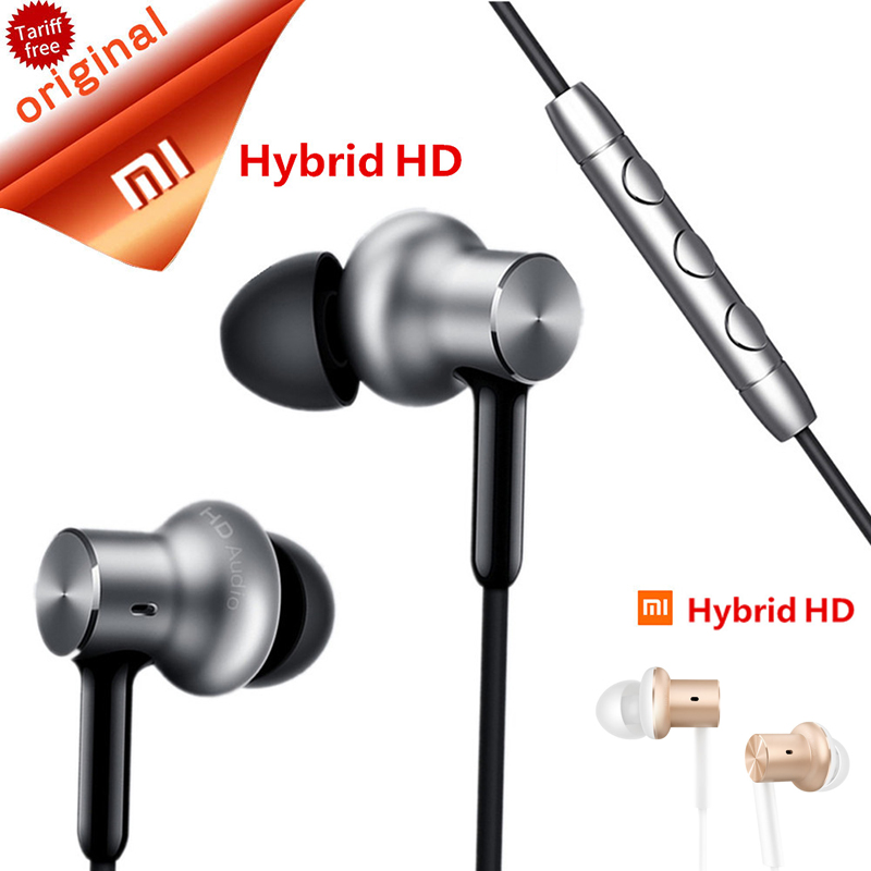 Original Xiaomi Piston Earphone Circel Iron Hifi Headset Earpod with Mic Earset Noise Cancelling Mi In-Ear Earphone HD