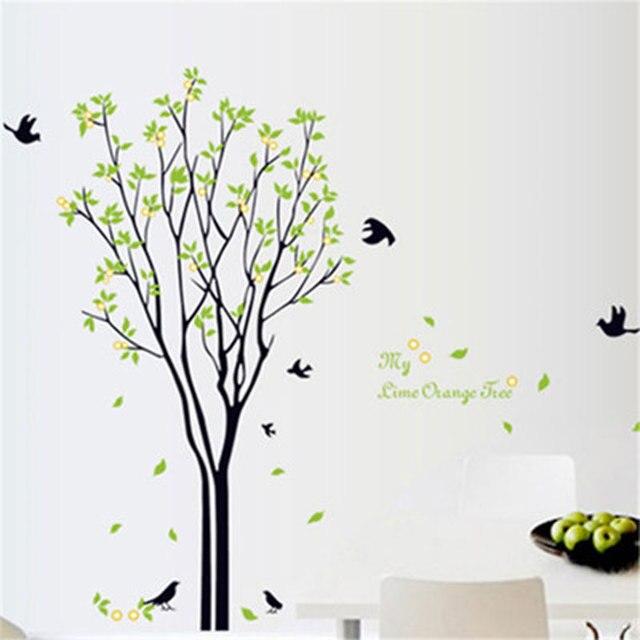 Grünen Baum Wandaufkleber Traum Kindergarten Dekorative Aufkleber Baum  Wandtattoos Vinyl Lösbaren Tapeten Tapeten Wohnkultur