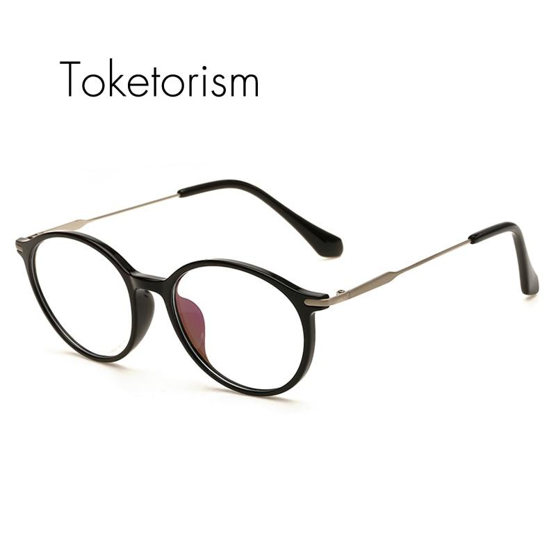 36fb4098bf21 Toketorism optical eye glasses frames for men retro prescription Female  frame eyeglasses 6161