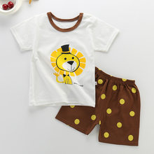 Boy Costume Child Summer Girl Clothes Cartoon Child Girl Clothing Set T-shit + Pants Cotton kids clothes boys clothes(China)