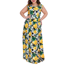 New Plus Size Maxi Dress Boho Style Printed Dress 2019 Floral Big Size Women Dress Beach Chiffon Large Size Long Summer Dresses все цены
