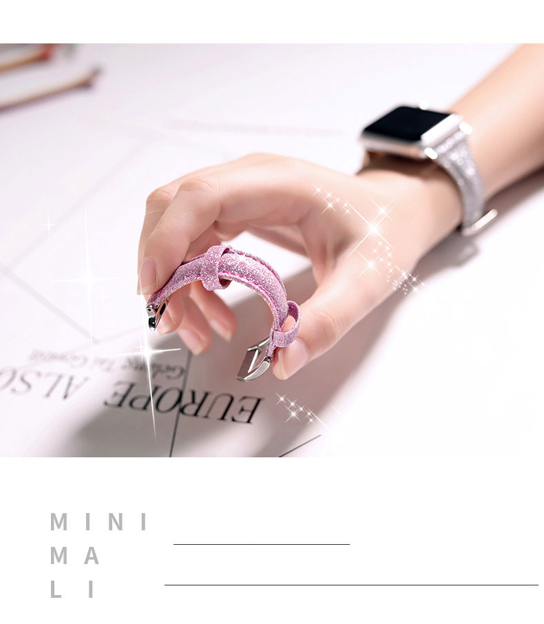 Bracelet femme en Cuir pour Apple Watch