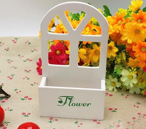 10cm small wooden vase Artificial flower vase For home desk decoration accessories Receiver Flower Set Hanging wall Decor