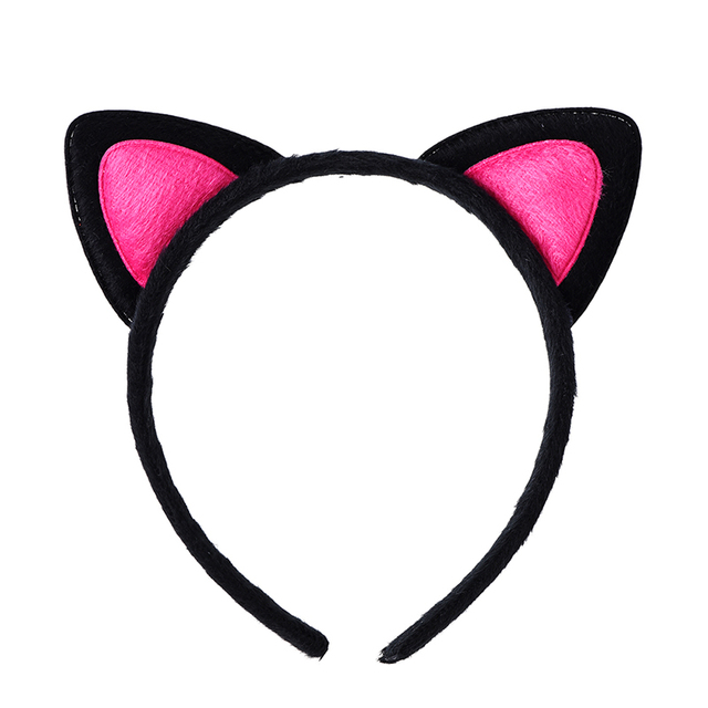 1PC Cute Cat Ears Hair Bands Hoop Double Colors Headband Children Girls Hair Ornament for Party Headdress Hair Accessories