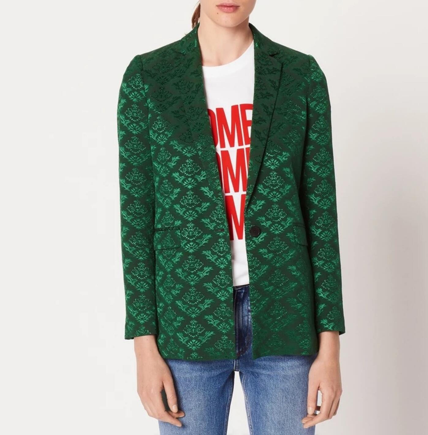Femmes Costume 2019 Et Automne Jacquard D'hiver Tempérament Vert rddnA