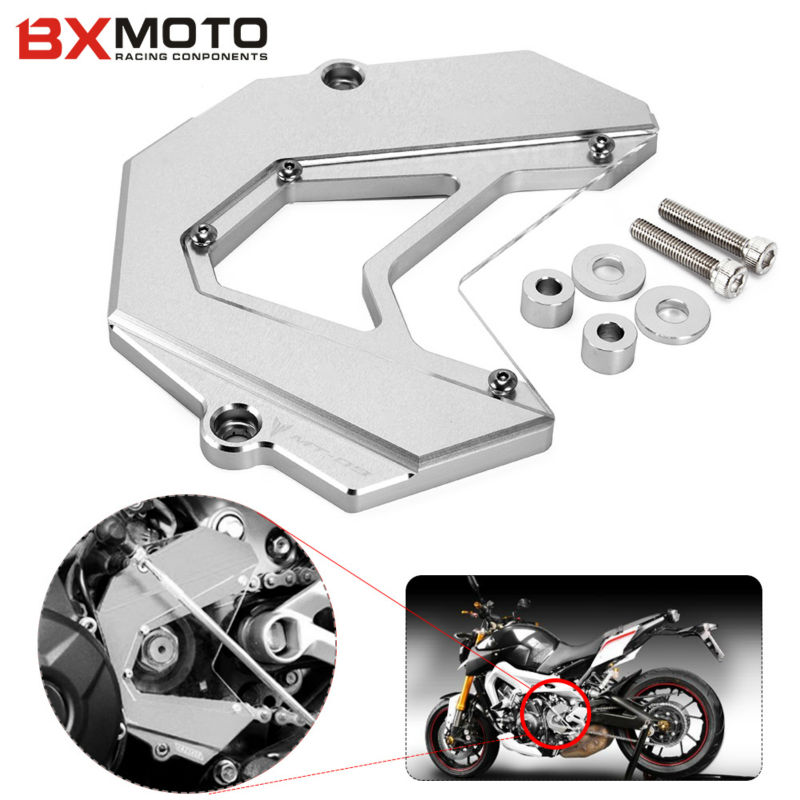 цены For Yamaha MT-09 FZ9 mt09 fz09 fz mt 09 2013 2014 2015 Motorcycle accessories Front Sprocket cover chain guard Cover cap