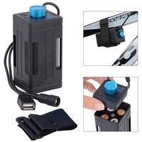 Wodoodporne baterie obudowa baterii Box z interfejsem USB obsługa 4x18650 baterii do rowerów LED Light High Quality w Pudełka do przechowywania baterii od Elektronika użytkowa na