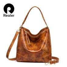 ffa159d8dc953 REALER frauen schulter taschen weiblichen crossbody-tasche solide echtes  leder frauen handtaschen hohe qualität große kapazität .