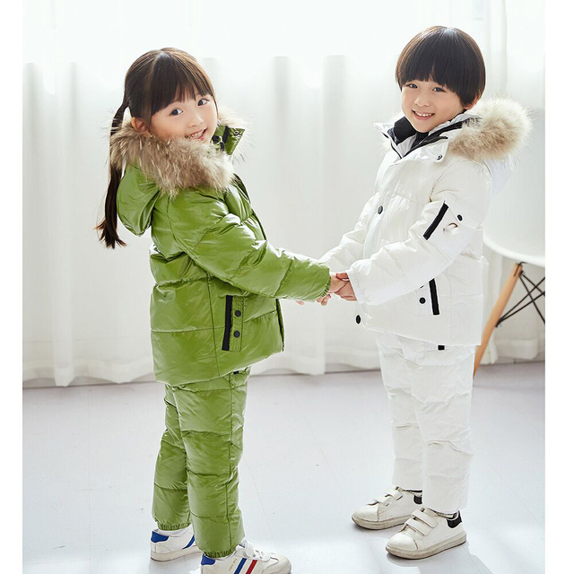 84744538449b 30 Degree Russia Winter Warm Down Jacket for Baby Girl Clothes ...