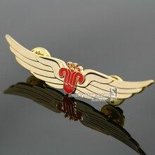 China Southern Airlines Goldene Abzeichen Flügel Pin Fliegen Medaille für Flugbesatzung Luft Mann Luftfahrt Gutes Geschenk als Sammlung Souvenir