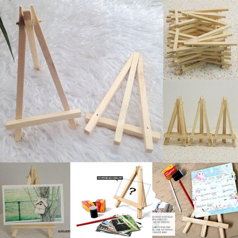 10 pces crianças mini cavalete de madeira