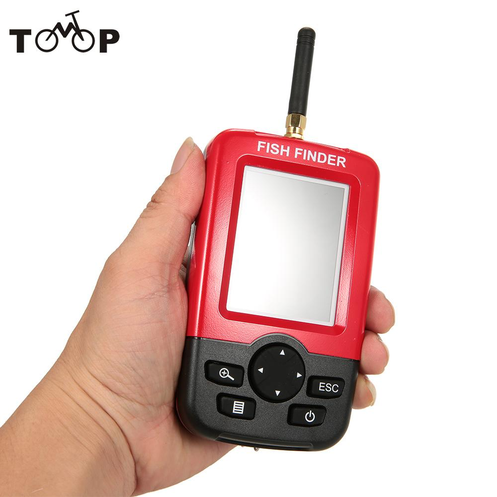 Color lcd fish finder wireless sonar sensor transducer for Wireless fish finder