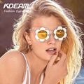 2016 NEW Fashion Linda Designer HOT sunglasses Farrow Vintage for Women Big size Cat eye Flower Glasses With Accessories Kdeam