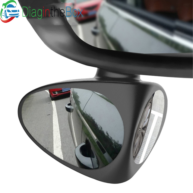 Car Blind Spot Mirror Wide Angle Mirror 360 Rotation Adjustable Convex Rear View Mirror for Safety Parking Car mirror