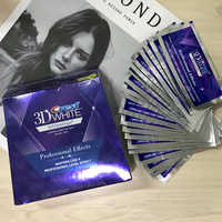 3D White Teeth Whitening Strips Professional Effects 1 Hour Express Fast Whiten Teeth Gentle Routine for Sensitive Teeth