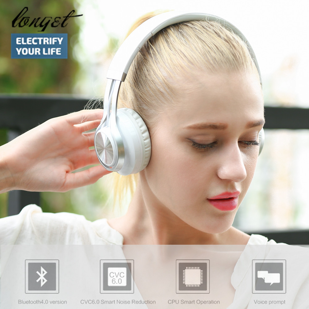 LONGET Bluetooth Headphones  Foldable Wireless+Wired Bluetooth 4.0 Hi-fi Stereo Headset Support TF Card/Hand free Call With Mic 2017 scomas i7 mini bluetooth earbud wireless invisible headphones headset with mic stereo bluetooth earphone for iphone android