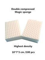 Duplo Comprimido esponja mágica melamina borracha pad. durável de alta densidade dupla nano esponja limpa para lavar a louça!