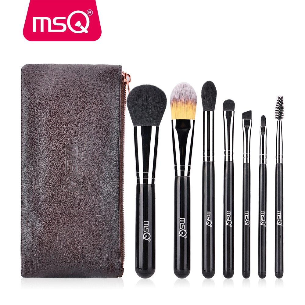 MSQ 7pcs Makeup Brushes Set Foundation Powder Eye Shadow Lip Make Up Brush Tool Cosmetic Maquiagem colorful jeans male slim print elastic skinny pants trousers trend pattern male jeans