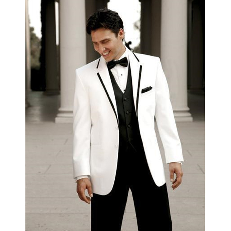 Ivory White Wedding Men Suits Blazer With Pants good quality Formal ...