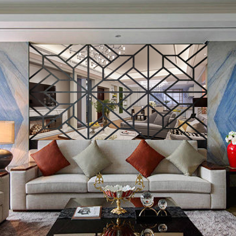 Modern Tv Background Decoration 3d Wall, Decorative Wall Mirror Stickers