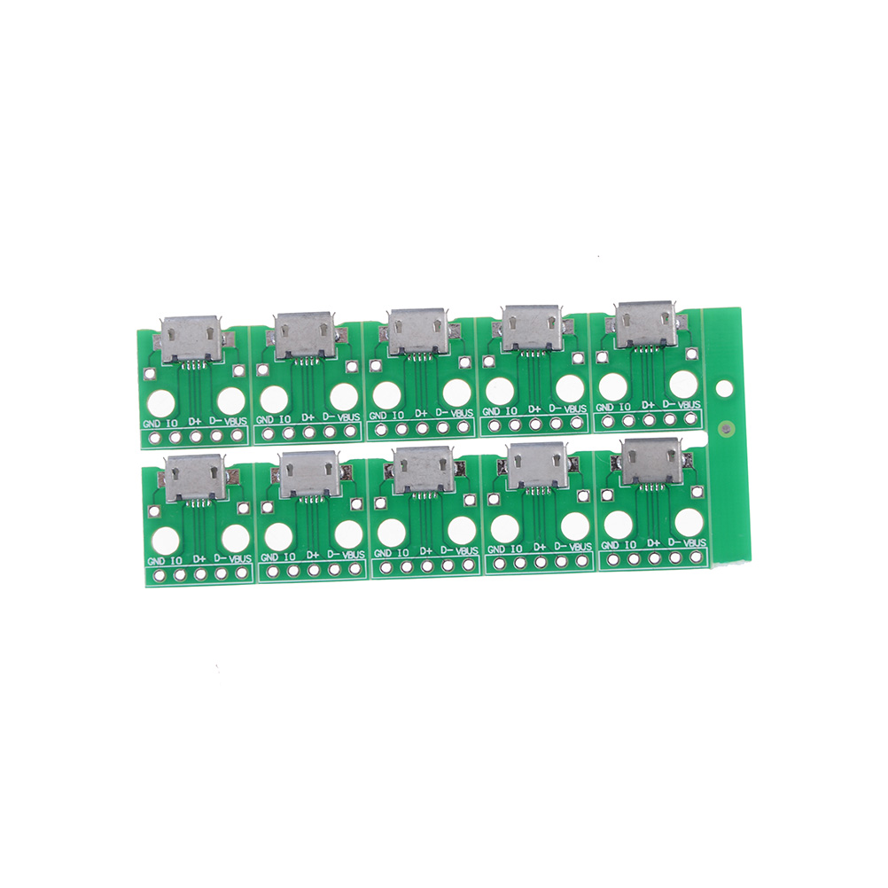 10pcs 11 X 10 X 5mm Mini Micro USB to DIP Adapter Connector Module Board Panel Female 5-Pin Pinboard Micro USB PCB Type Parts(China)