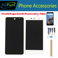 No Logo 1PC/Lot 5.0 Inch For Wileyfox Swift 2 Wileyfox Swift 2 Plus LCD Display+Touch Screen Digitizer White Black Color+Kits