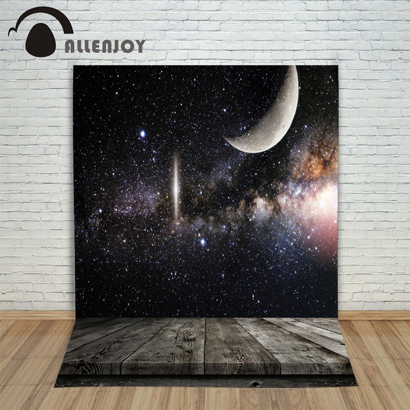 Background vinyl christmas Moon Star universe wood newborn photo studio photocall New fabric cute moon flac jeans