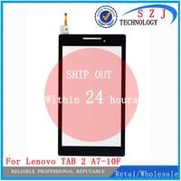 Nova 7 ''polegada Para Lenovo Tab 2 A7-10 A7-10F A7-20 A7-20F Tablet Frente Outter Toque painel Digitador da tela de Substituição De Vidro