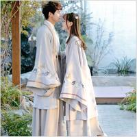 Cosplay CP couple clothes long sleeves gowns Women Stage Outfit Asian Traditional improved Chinese Hanfu men embroidery costume